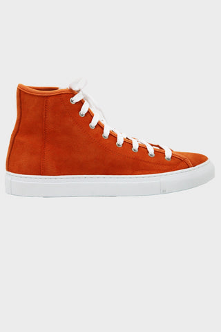 Shearling Lined Veneto Alto - Sun Orange Deer Suede