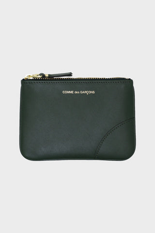 comme des garcons wallet Classic Leather Pouch - Bottle Green