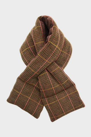 Tweed Fleecy Knit x Lamb Wool KESA Scarf - Light Brown