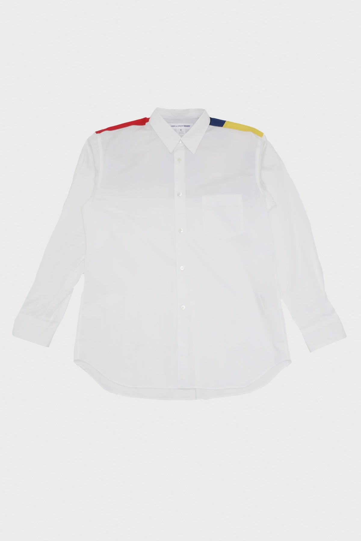 Comme des Garçons SHIRT - Solid Mix Shirt - Red/Blue/Yellow - Canoe Club