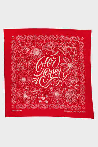 "canoe club ""For Ever"" Bandana - Red"