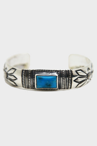 larry smith Butterfly Round Square Turquoise Bracelet