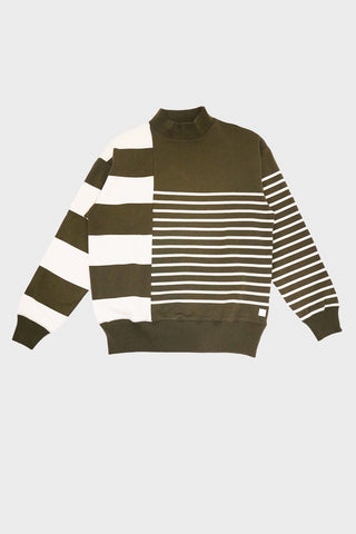 nanamica Nanamican Long Sleeve Sweater - Olive