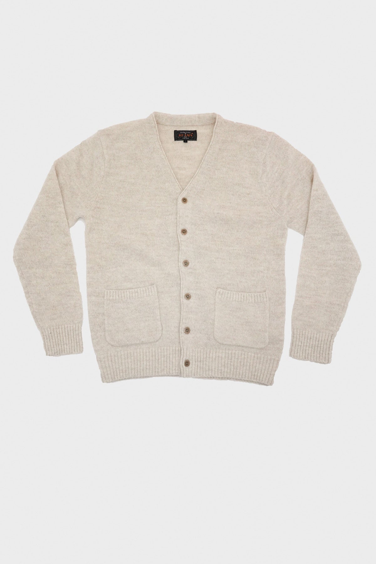 beams plus Alpaca Cardigan - Off-White