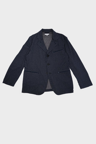 engineered garments Leisure Jacket - Navy Brown Diamond Jersey Knit