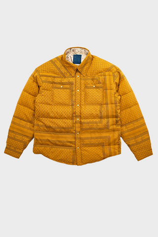 visvim indigo camping trading post find your happiness I.C.T. Kerchief Down Jacket - Mustard