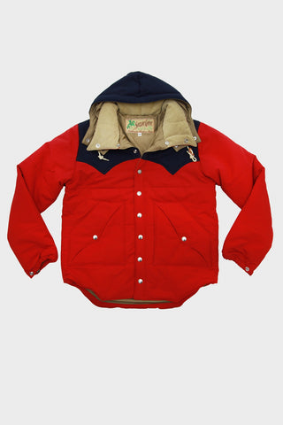 Padding Jacket - Red/Navy