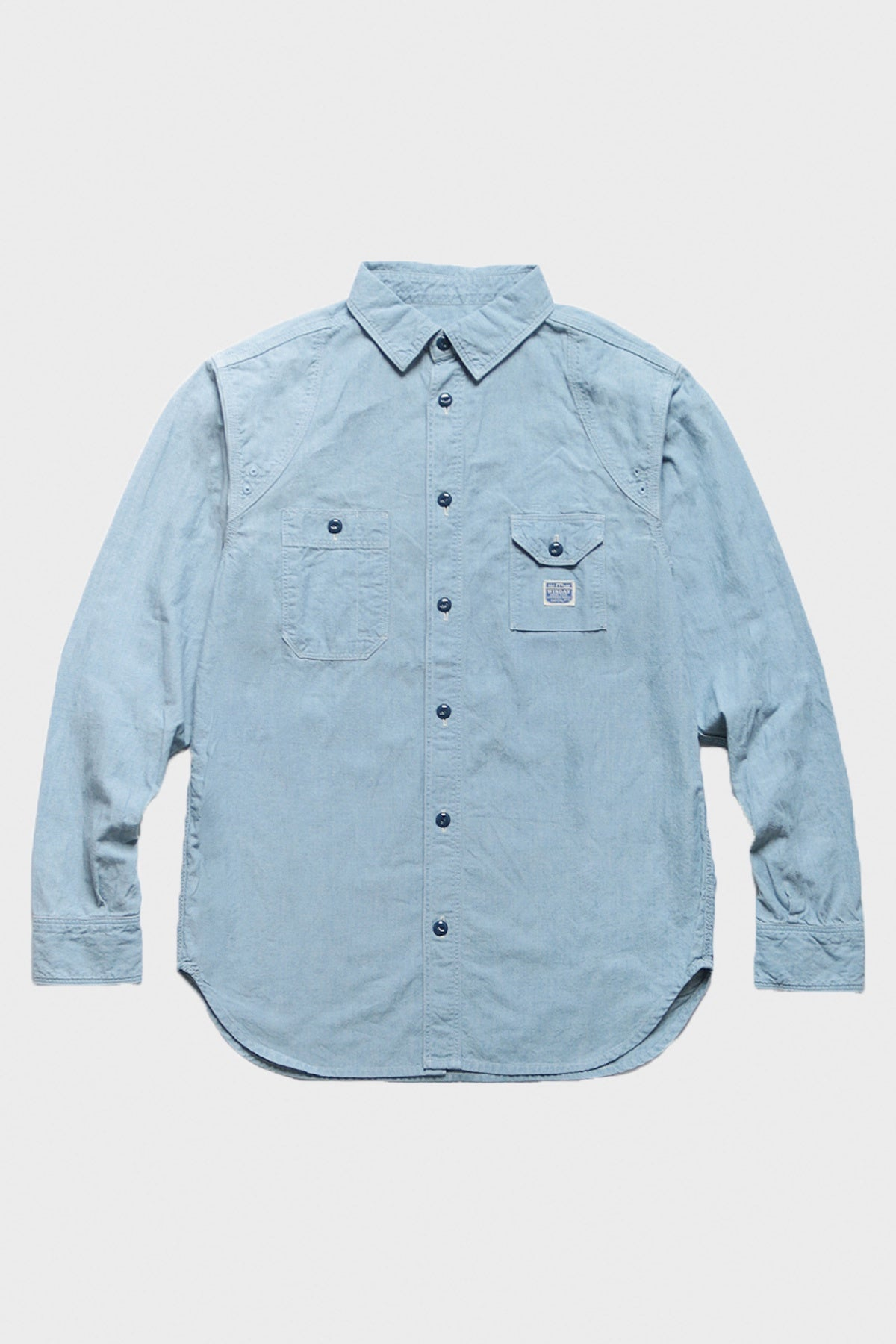 Kapital - Chambray MOJITO MAN Work Shirt - Sax - Canoe Club