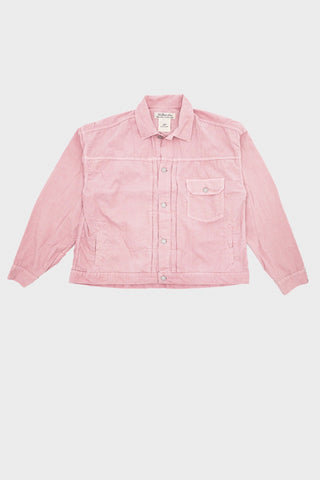 remi relief Light Summer Corduroy Wide 1st Jacket - Salmon