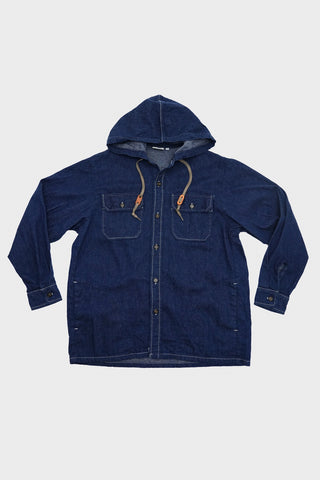orslow Hooded Shirt Jacket - One Wash