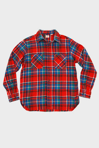 Twill Check Work Shirt - Red 165