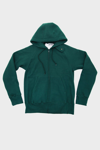 Workaday by Engineered garments Raglan Zip Hoody - Green