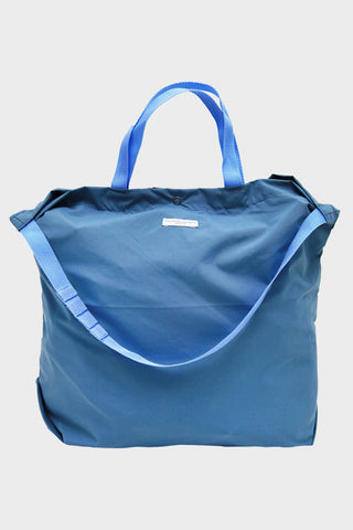 Carry All Tote - Light Blue Coated Nylon Taffeta