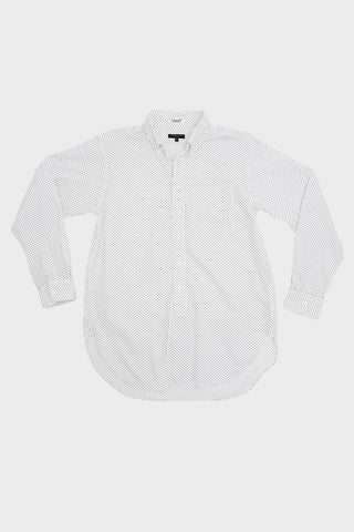 engineered garments 19 Century BD Shirt - White/Navy Micro Polka Dot Broadcloth