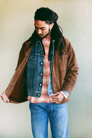 rrl ralph lauren Plaid Twill Camp Shirt - Dusty Red