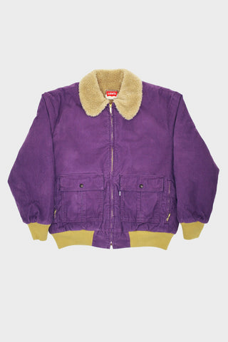 levi's vintage clothing Cord Sherpa Jacket - Grape Jam