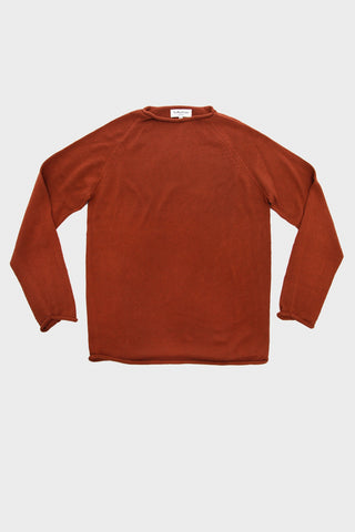 Gong Plain Crew - Brown Cotton Knit