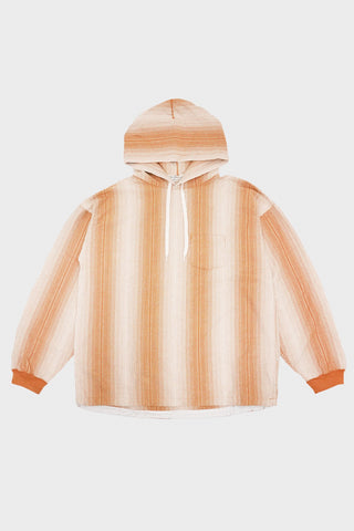 remi relief Native Print Striped Hoodie - Mustard