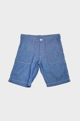 tss Slub Denim Fatigue Shorts - Blue