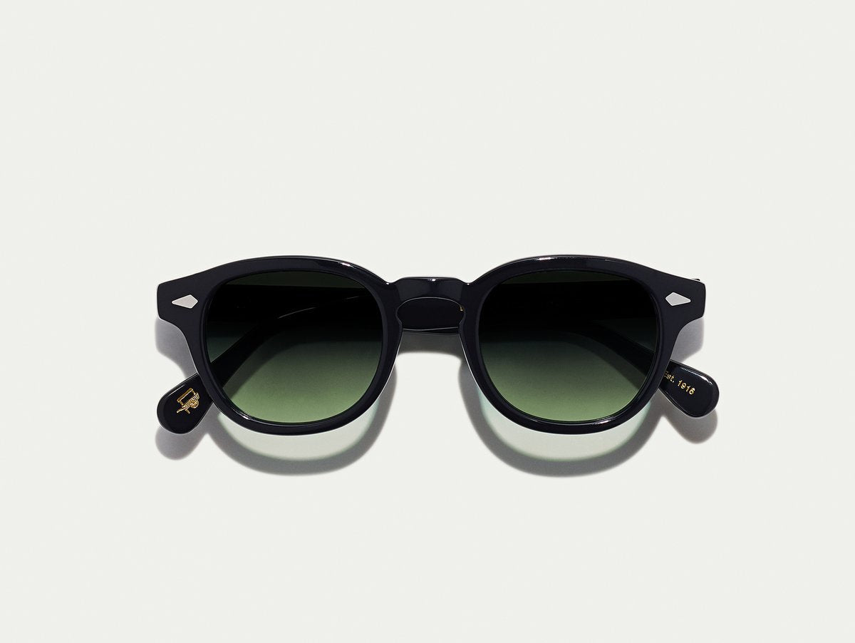 Moscot - Lemtosh - Black with Forest Wood Lenses - Canoe Club