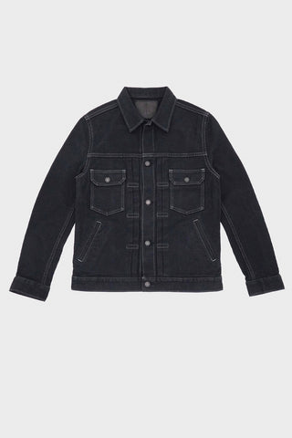 pure blue japan Sashiko Denim Type 2 Jacket - Double Black