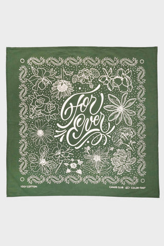 "canoe club ""For Ever"" Bandana - Olive"