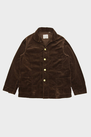 full count Corduroy Farmers Short Coverall - Brown