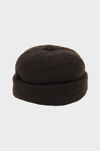 cableami Boiled Wool Cap - Brown