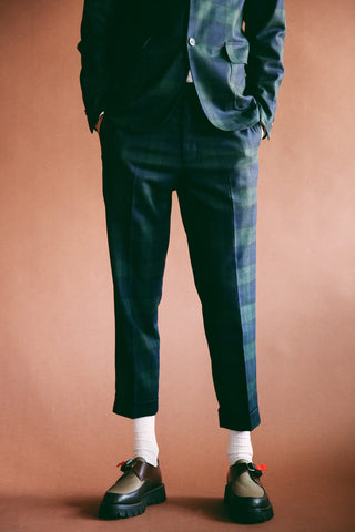 beams plus Ivy Flannel Trousers - Blackwatch