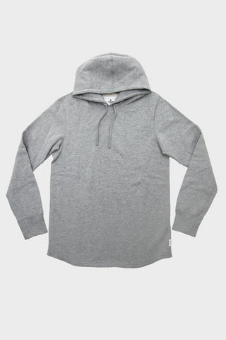 Scalloped Hoodie - Heather Grey