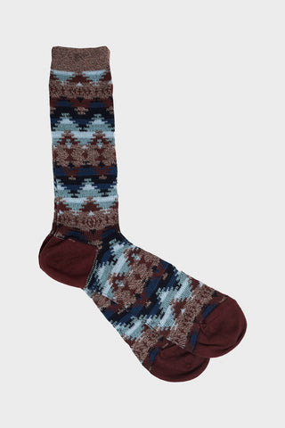anonymous ism Wigwam Jacquard Crew socks - Brown