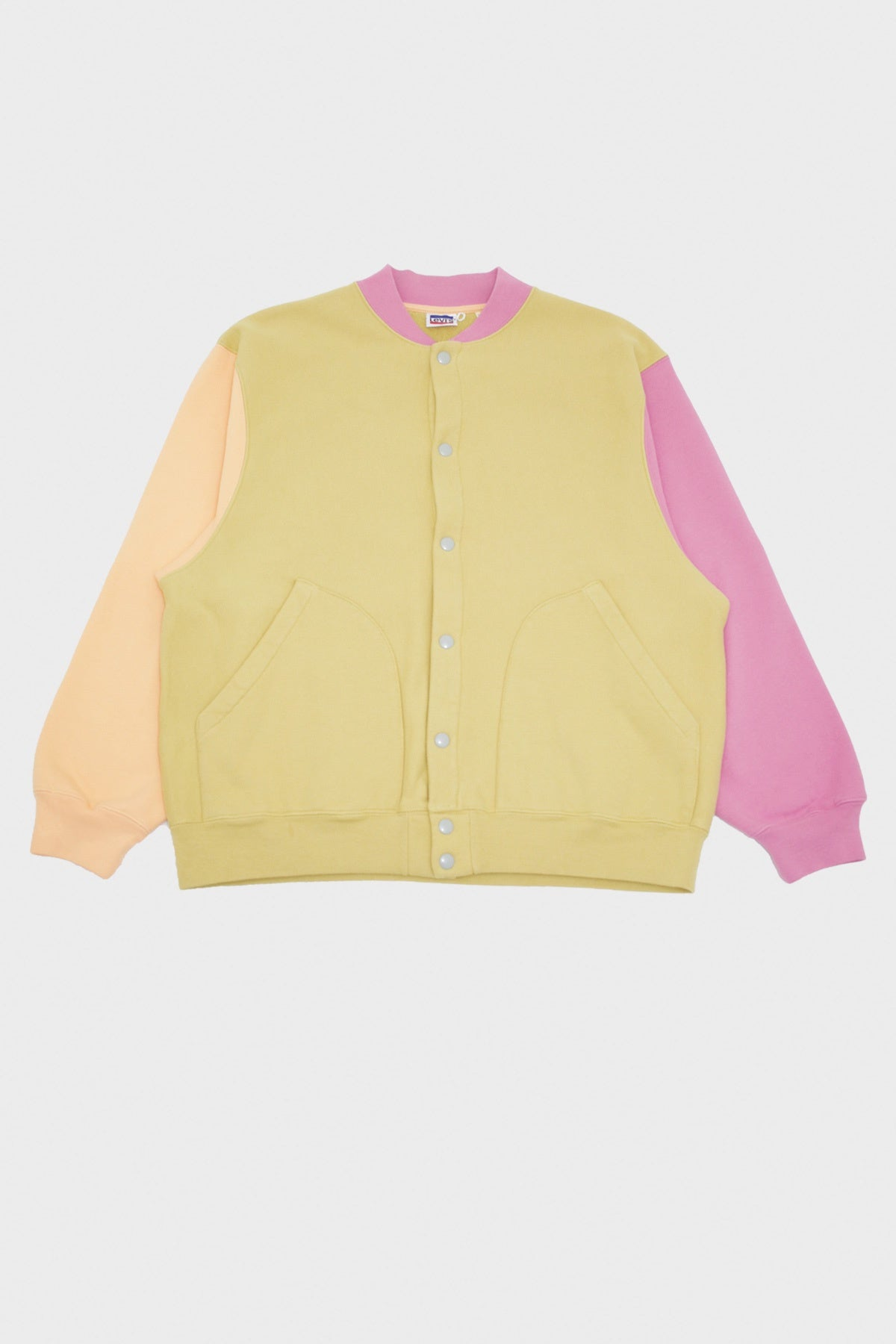 Levi's Vintage Clothing - Fleece Cardigan Jacket - Lemon Orange Pink & Tan - Canoe Club