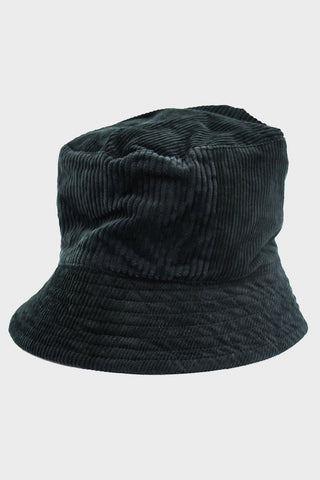 engineered garments Bucket Hat - Black Cotton 8W Corduroy