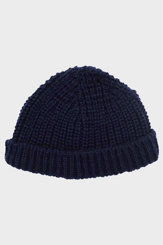 British Wool Short Hat - Navy