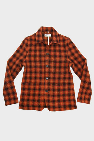 Bakers Chore Jacket - Orange Check