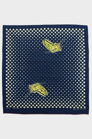 Fastcolor Selvedge Bandana Coco Swallowtail - Navy