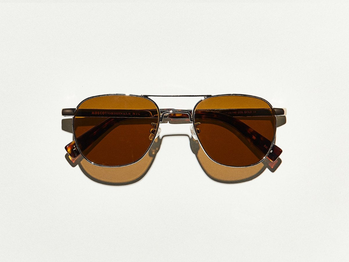 Moscot - Zulu - Gold/Brown Lenses - Canoe Club