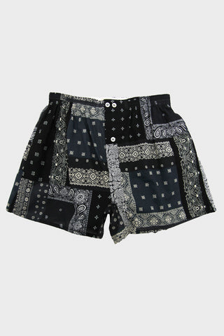 Anonymous Ism Patchwork Bandana Boxer - Black