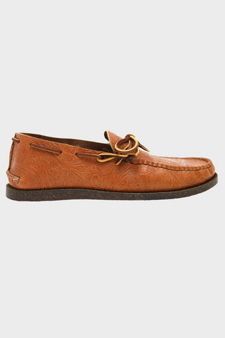 yuketen All Handsewn Canoe Moc with Camp Sole - Floral Tan
