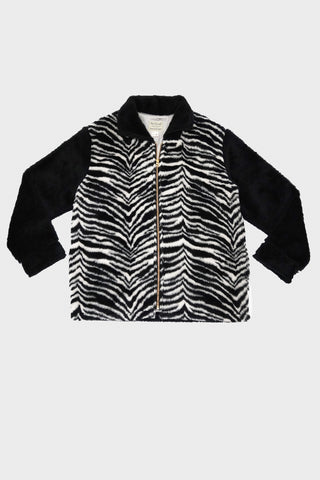 sugar cane clothing japan Kodiak Style Zip Jacket - Zebra