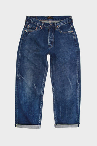 Chimala Selvedge Denim Used Ankle Cut- Vintage Dark