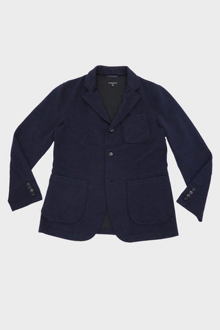 Engineered garments Knit Jacket - Dk. Navy Poly Wool Jersey Knit