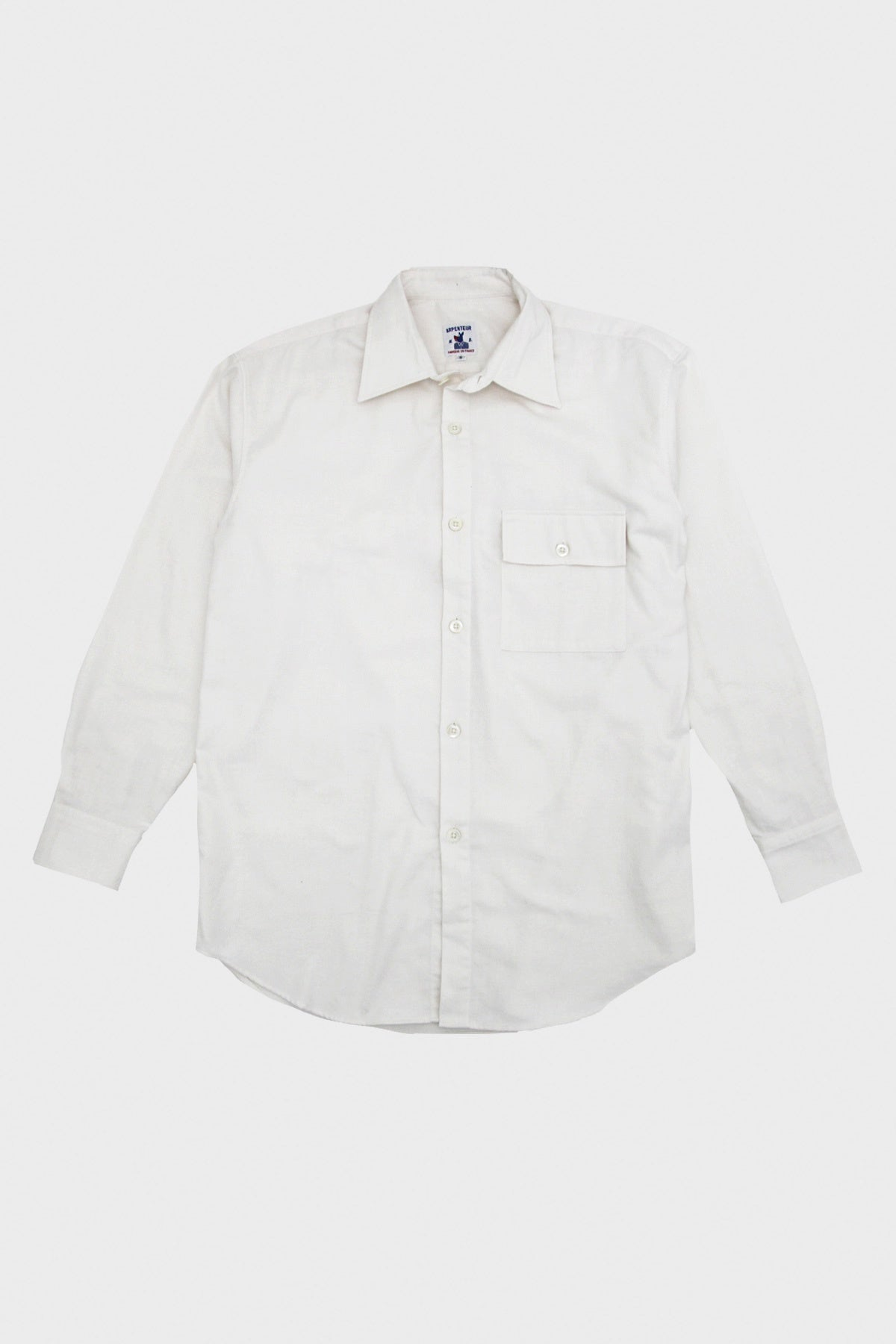 Arpenteur - Doris Shirt - White Cotton Flannel - Canoe Club