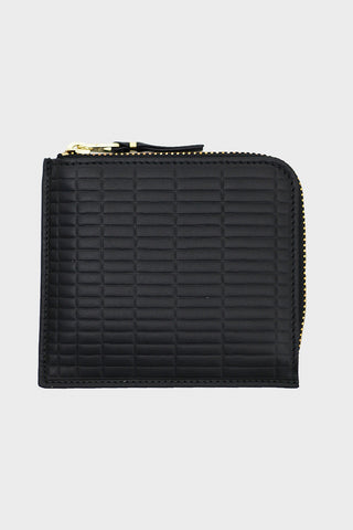 comme des garcons wallet Brick Line Half Zip Wallet - Black