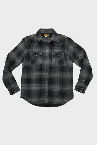 Ombre Western Shirt - Grey/Black