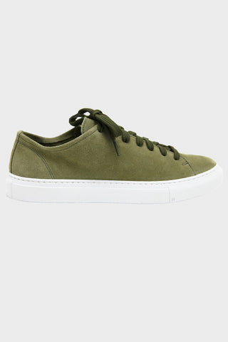 Loria Low - Olive Suede