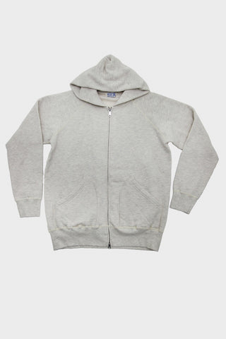 Hooded Sweatshirt with Zip - Oatmeal