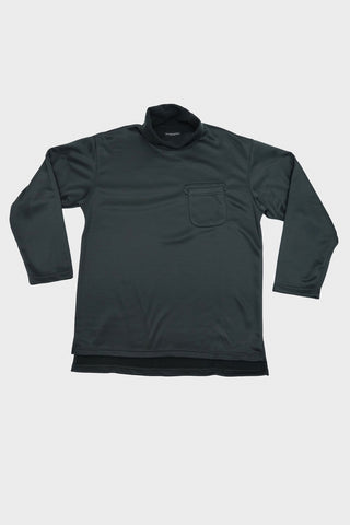 engineered garments Long Sleeve Turtleneck Shirt - Black Polyester Fleece