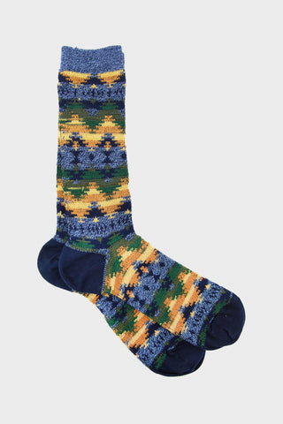 anonymous ism Wigwam Jacquard Crew socks - Navy