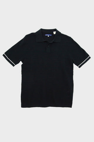 levi's made and crafted Crochet Stitch Polo - Jet Black